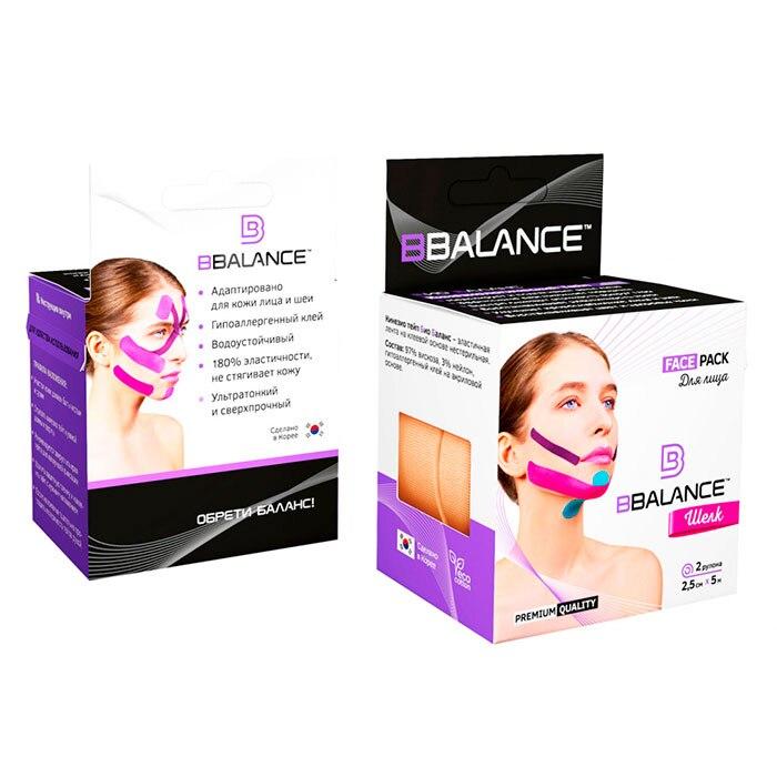 Kinesio Take Face Bbalance Face Pack (2,5 Cm * 5 M, 2 Rolls) Silk-beige