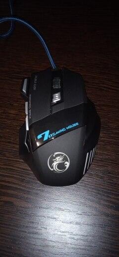 Souris d'ordinateur Gamer souris de jeu ergonomique USB jeu filaire Mause 5500 DPI souris silencieuse avec LED rétro-éclairage 7