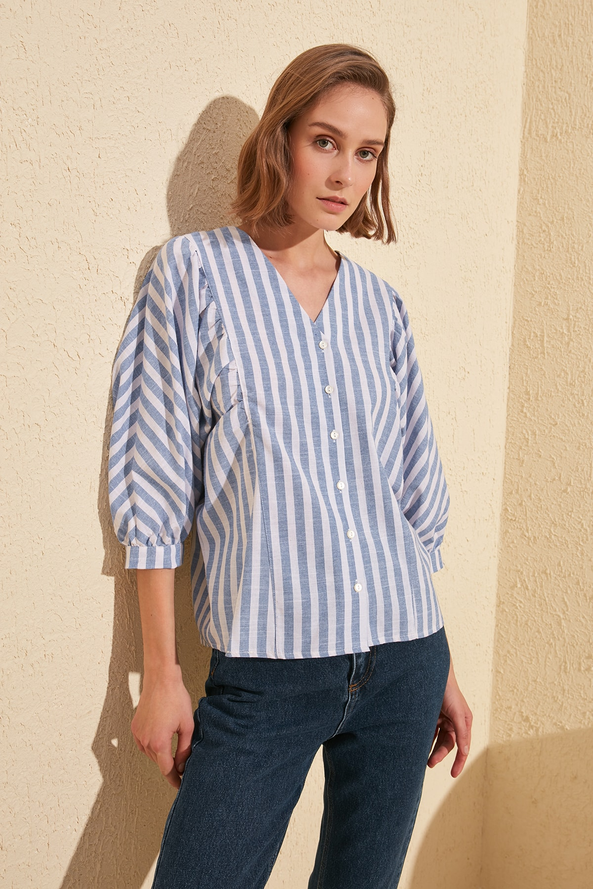 Trendyol Balloon Sleeve Shirt TWOSS20GO0076