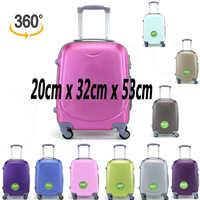 Mala de viagem bagagem de mão viagens cabin trole abs rígido 4 rodas rodízios