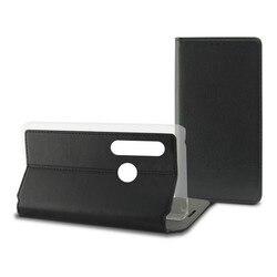 Pokrowiec do telefonu Huawei P20 Lite kontakt slim  czarny poliwęglan tekstylny na