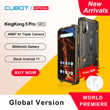 Cubot KingKong 5 Pro Android 11 Rugged smartphone 2021 IP68/IP69K Wasserdichte outdoor smartphone ohne vertrag Handy 8000mAh 48MP Kamera NFC Robustes Telefon GPS GLONASS Beidou 4GB+64GB Globale Version 4G LTE
