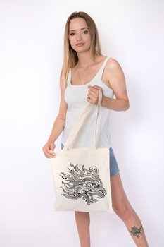 Angemiel Bag Lineal Lion Shopping Beach Tote Bag image