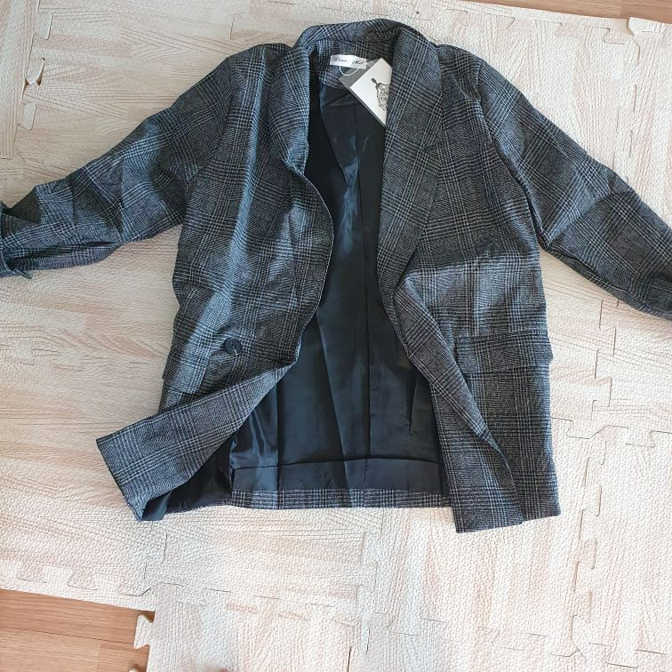 CBAFU autumn spring jacket women suit coats plaid outwear casual turn down collar office wear work runway jackets blazer N785 reviews №1 182617
