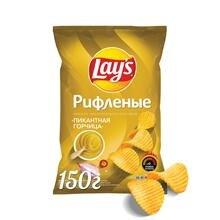 Чипсы LAY'S рифленые пикантная горчица, 150г