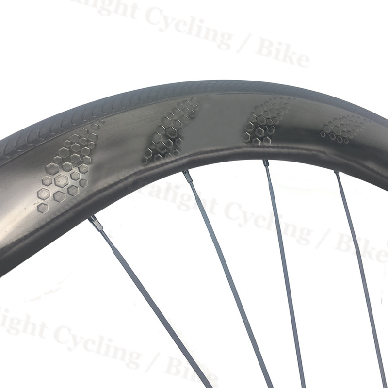 Carbon Road 4 5 4 Rims Wheels Clincher Bike Dimple Tubeless 58mm 25mm Wide Special Brake Surface 260° High TG Brake Wheel set|Bicycle Wheel|   - title=