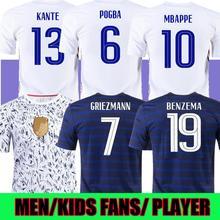 BENZEMA 2020 france jersey 21 22 MBAPPE GRIEZMANN POGBA GIROUD KANTE la Maillot de Euro football shirt enfants 2021 kids 2022