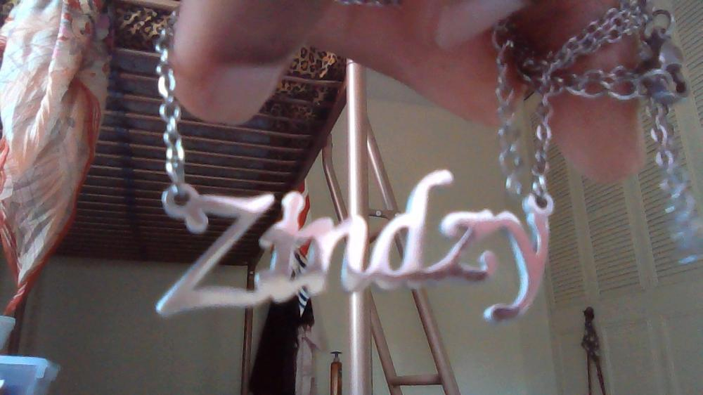 Personalized Curved Script Name Necklace photo review