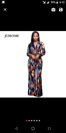 Autumn Fashion Big Jumpsuit Romper Women Long Sleeve High Elastic Overalls Lace Up Wide Leg Jumpsuit Plus Size Long Pants photo review