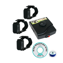 In-Ground 227B Dog Electric Fence Wireless Shock Collar Receiver Hidden System With 3 Collars