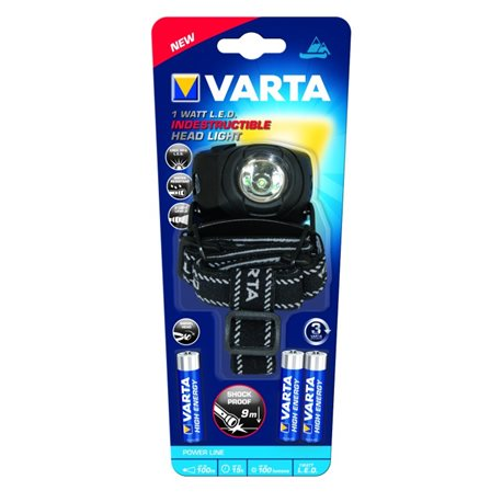 FLASHLIGHT Mini ILLUMINATION LED 100LM 1W 3AAA FRONT INDESTR. Varta
