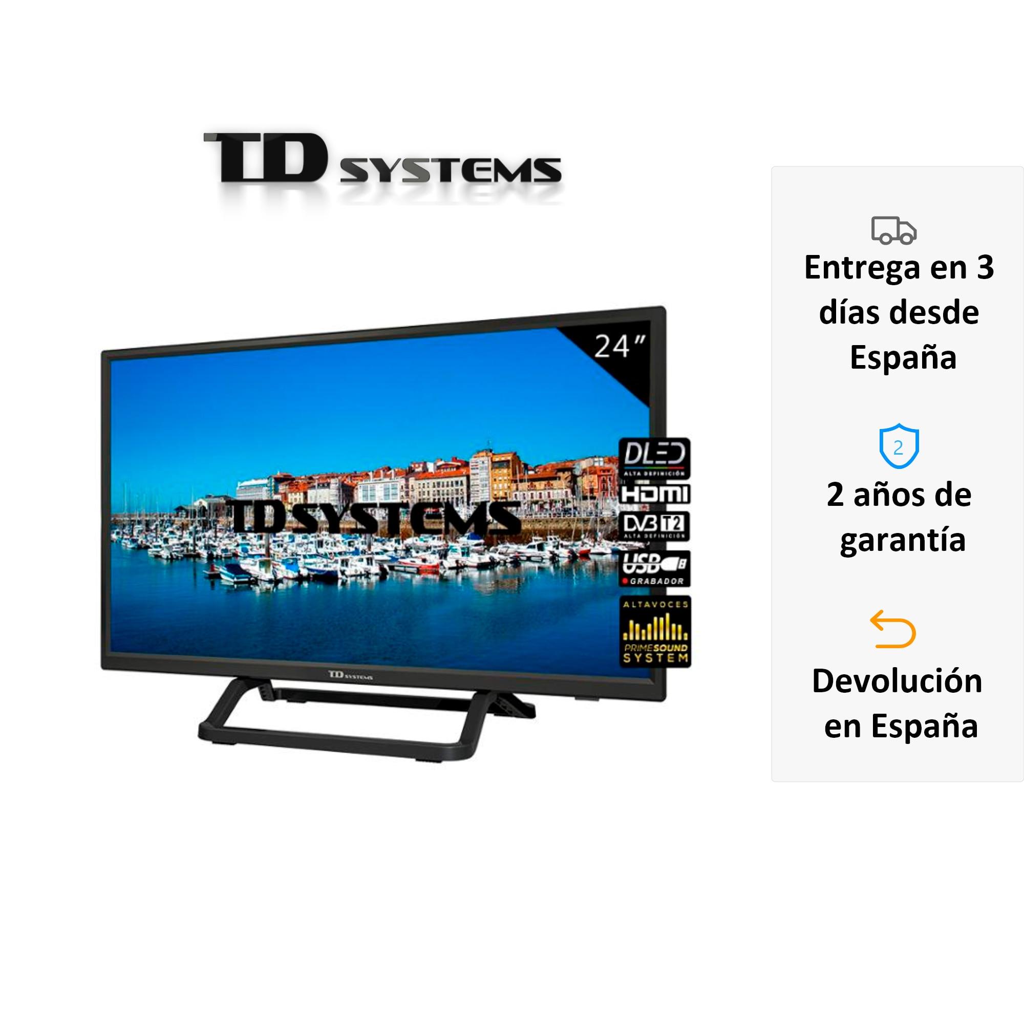Televisores 24 Pulgadas TD Systems K24DLX10H. HDMI, VGA, USB Grabador, DVB-T2/C/S2 [Envío desde España, garantía de 2 años]