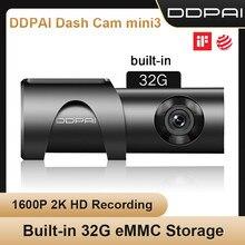 Ddpai Dash Cam Mini 3 1600P Hd Auto Camera Mini3 Auto Drive Voertuig Video Recroder 2K Android Wifi smart 24H Parking Camera