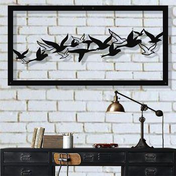 Metal Wall Art, Metal Bird Wall Art, Metal Wall Decor, Birds Flock Decor, Interior Decoration, Office Decor фото