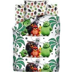 Biancheria da letto del bambino 1,5 sp Angry Birds Bird island, verde