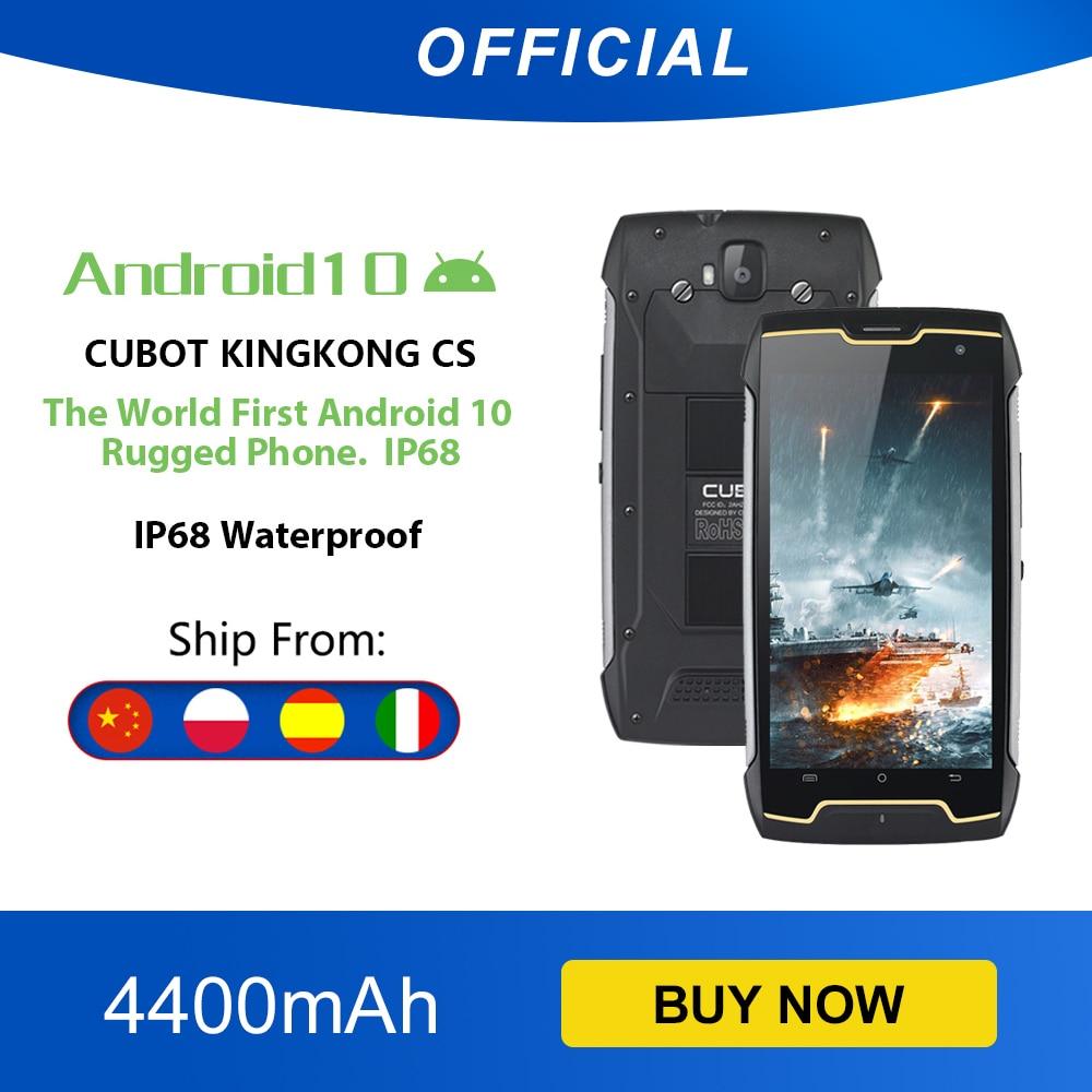 Cubot KingKong CS Android 10 IP68 Waterproof Smartphone 5 Inch 4400mAh Face ID Dual SIM Card Telephone Rugged Phone King Kong CS 1