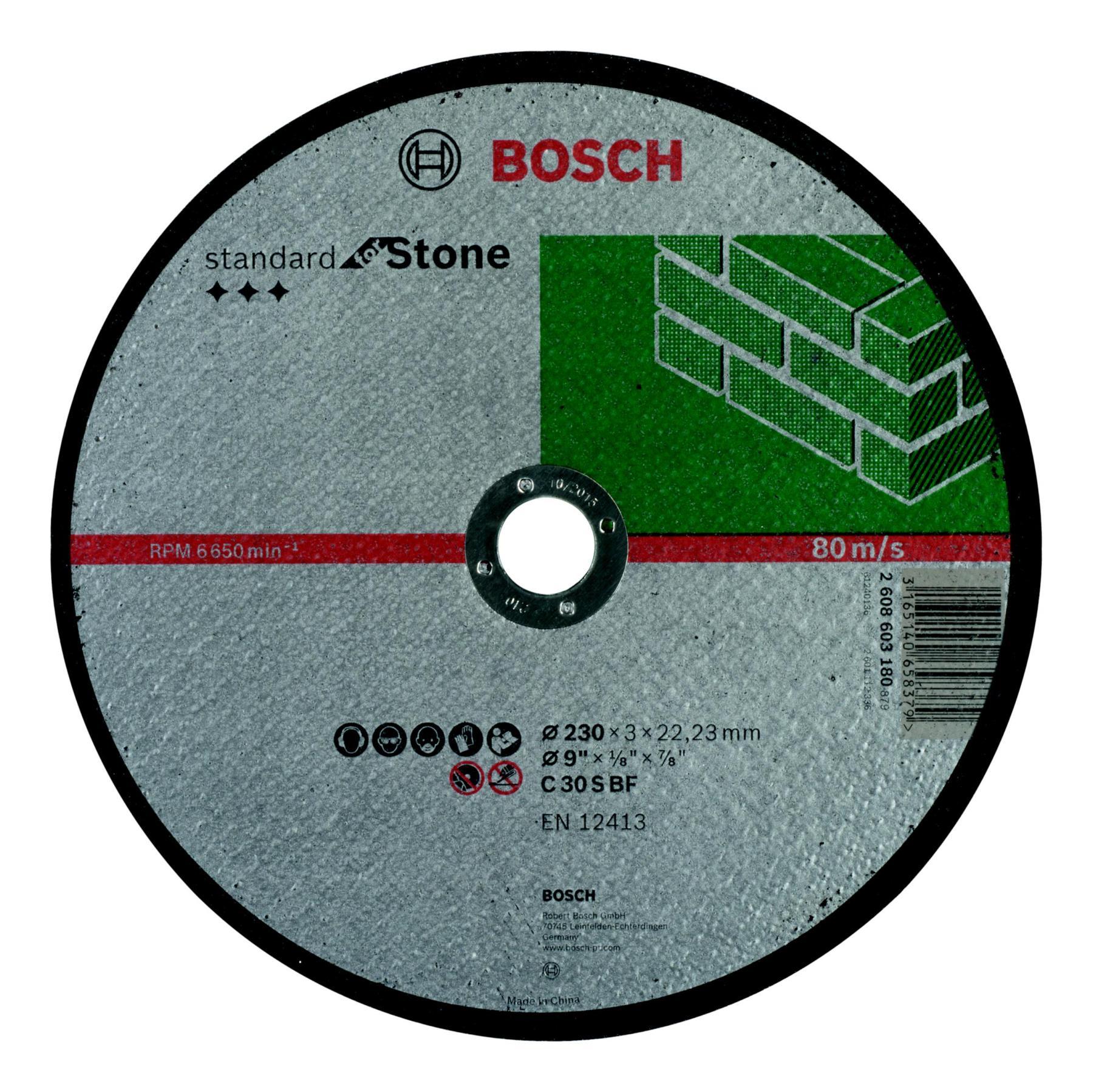 Circle Cutting BOSCH 230х3х22 Standard For Stone (2.608.603.180)