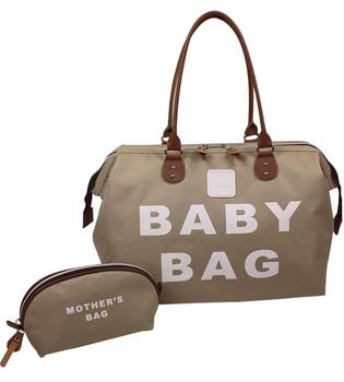 Baby Diaper Bags Stylo Baby Large Capacity Bag Mother Mummy Mom Baby Multifunctional Waterproof Outdoor Travel Maternity - Brown