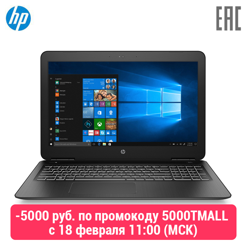 Laptop HP Pavilion Gaming 15-dp0008ur Black (Core I5 8300 H/8 GB/1 TB/1060 3 GB/W10) (7BL68EA)