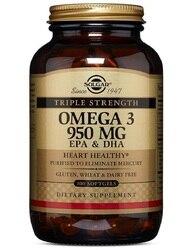 سولجار الثلاثي القوة أوميغا 3 950 mg 100 سوفتغيلز زيت السمك Epa Dha