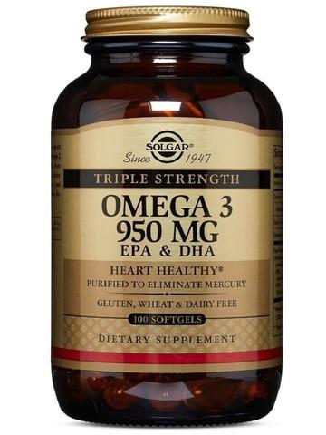 solgar triplo forca omega 3 950 mg 100 softgels oleo de peixe epa