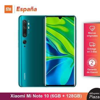 Xiaomi Mi Note 10 (128GB ROM, 6GB RAM, Cámara 108 MP, Android, Nuevo, Libre) [Teléfono Movil Versión Global para España] note10