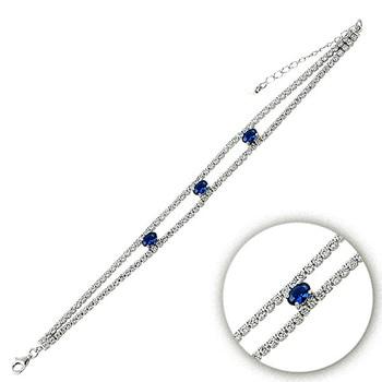 Silver 925 Sterling Zircon Cubic Zirconia Bracelet