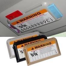 цена на Car Sun Visor Pocket IC Clip Card Holder Card Organizer Multifunction Parking Card Holder Sun Visor Card Holder Car Accessories