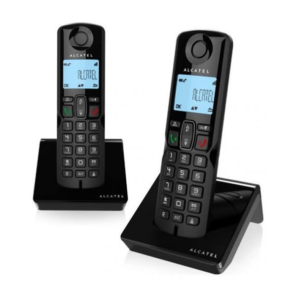 Беспроводной телефон Alcatel S250DUO DECT черный (2 шт)