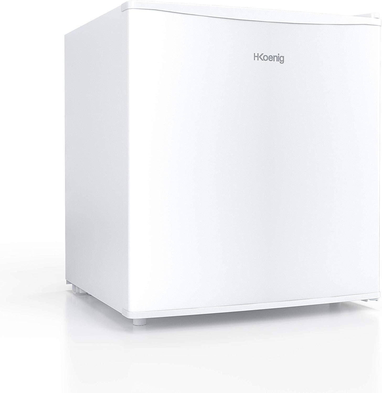 H.KOENIG FGX480 Min Nevera Eléctrica Con Capacidad De 45 Litros, Con Compartimento Congelador, 50 W, Blanco, 46 Litros