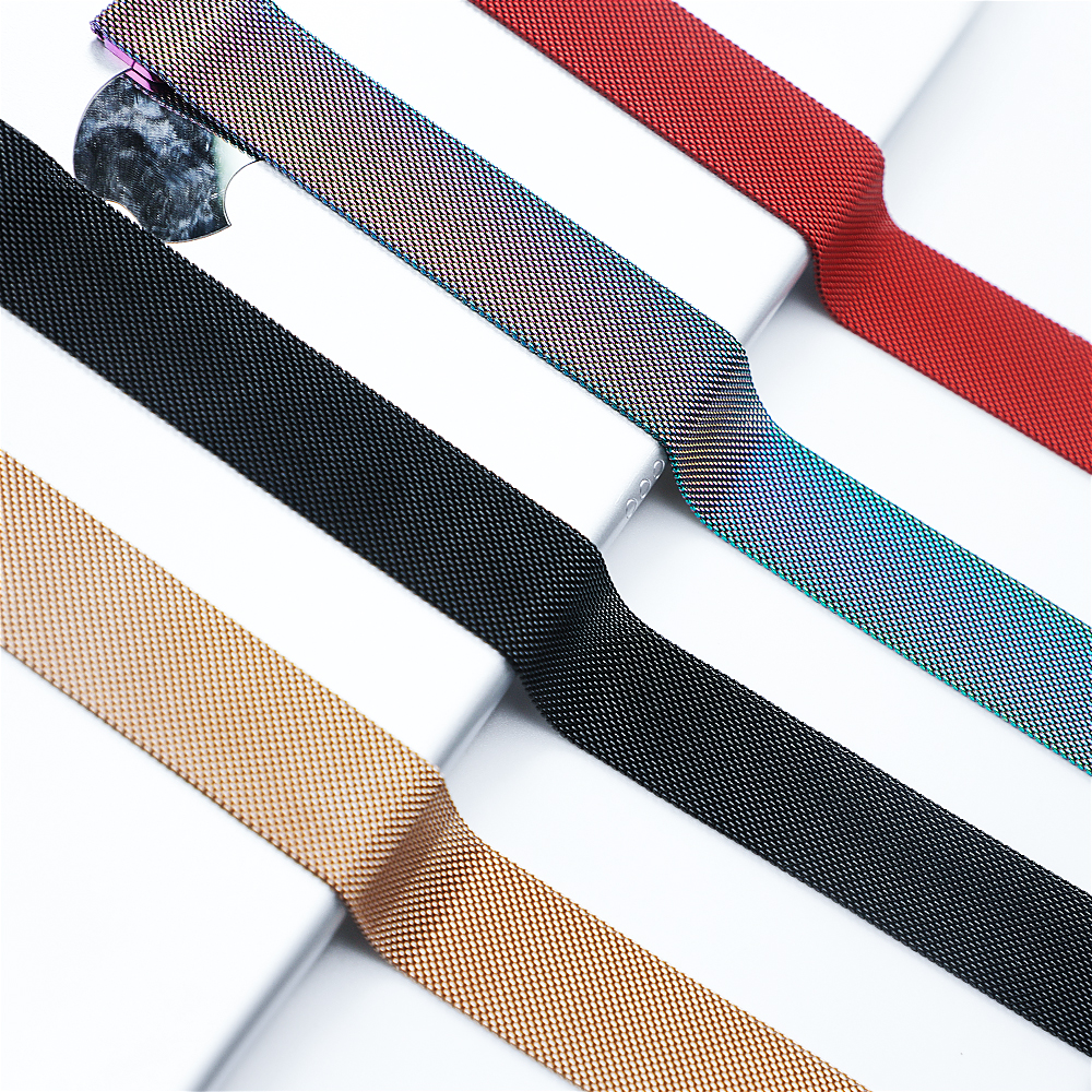 Strap For Apple Watch band Milanese Loop apple watch 5 4 3 band 44mm 40mm iwatch band 5 42mm 38mm pulseira watchband bracelet in Watchbands from Watches