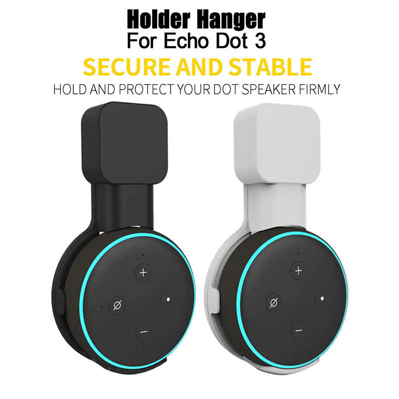 1/2 piezas de enchufe soporte de montaje en pared Hange para Echo Dot 3rd generation Holder Case Plug, soporte de montaje enchufable trabajar con Amazon Echo Dot