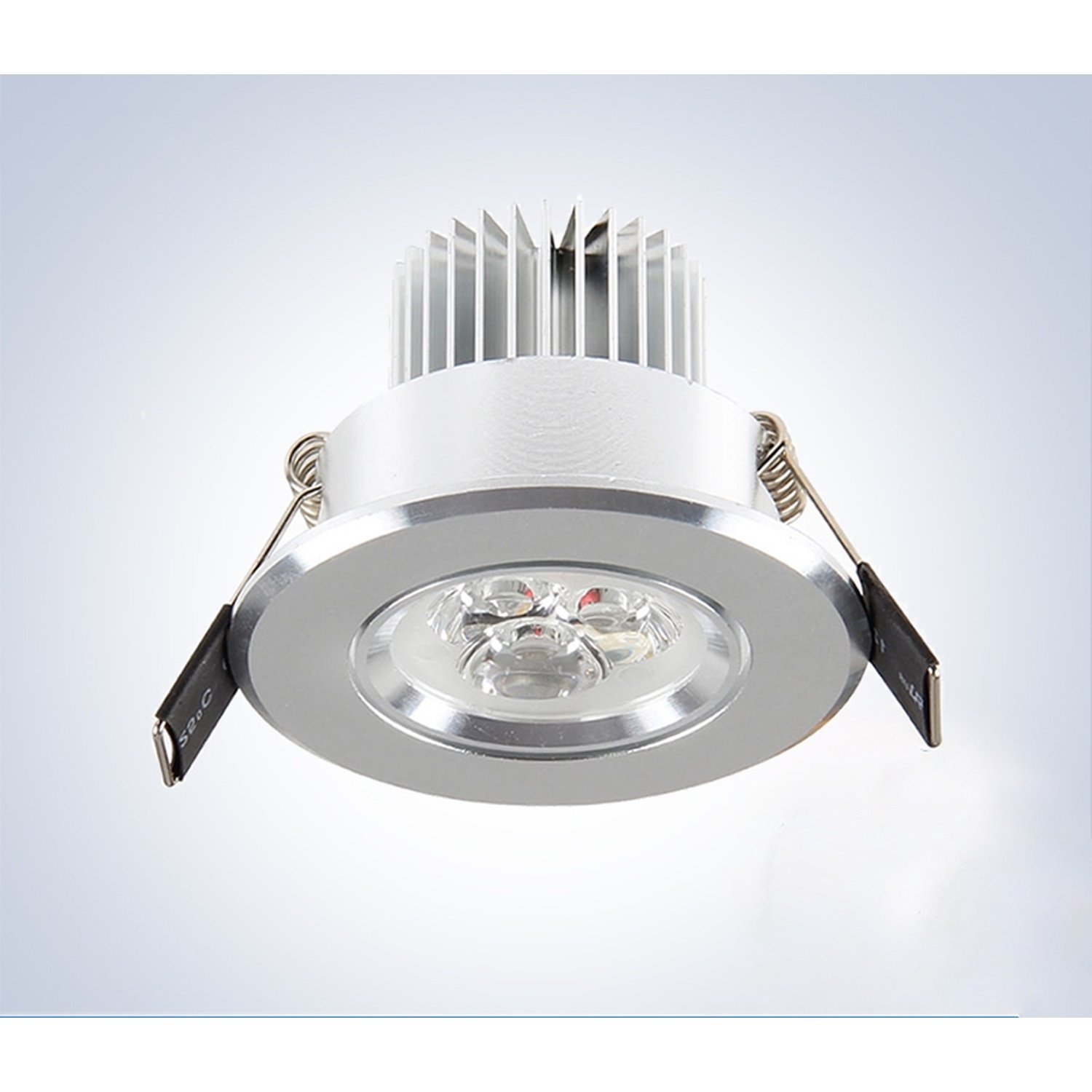 Led Ceiling Lamp 7W 6500K cold white 7w 600lm 6500k white 7 led ceiling light silver 89 265v