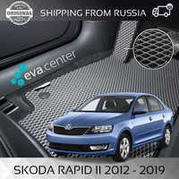 Car Mats Eva for Skoda Rapid sedan II 2011 -2019 set of 4x mats and jumper/Eva mats on auto