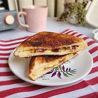 #福气年夜菜# 芝士火腿热压三明治的做法图解9