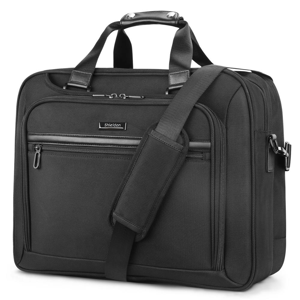 SHIELDON 17.3 Inch Oversized Laptop Briefcase Adjustable Shoulder Strap 3-way Bag Waterproof Laptop Bag With Plenty Of Space