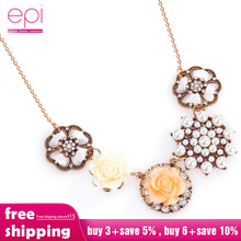 2019 NEW Fashion Jewelry Necklace Chain Collar Flower Necklaces & Pendants Trendy Choker Ethnic Bohemian Necklace Gift vintage jewelry bohemian tibetan silver chain necklaces gypsy ethnic carved metal flower pendants necklaces for women