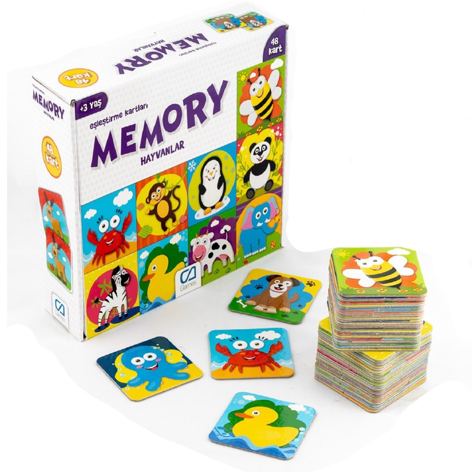 Ebebek Ca Games Memory Animals 48 Card 3 Years+