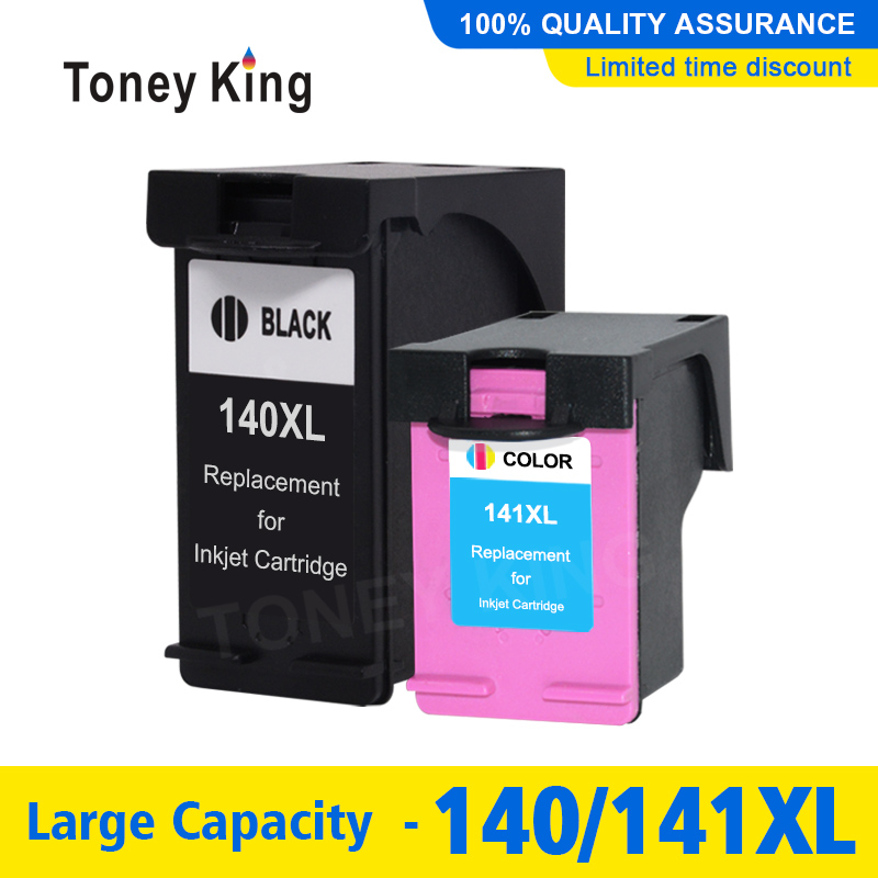 Toney King Ink cartridge compatible for <font><b>HP</b></font> <font><b>140</b></font> <font><b>141</b></font> for <font><b>HP</b></font> C4583 C4283 C4483 C5283 D5363 Deskjet D4263 D4363 C4480 printer image