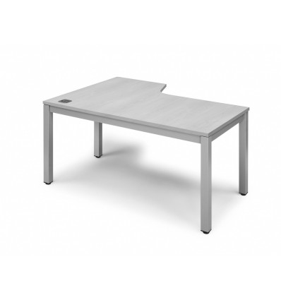 OFFICE TABLE EXECUTIVE SERIALS L SHAPE RIGHT 180X120 ALUMINUM/GRAY
