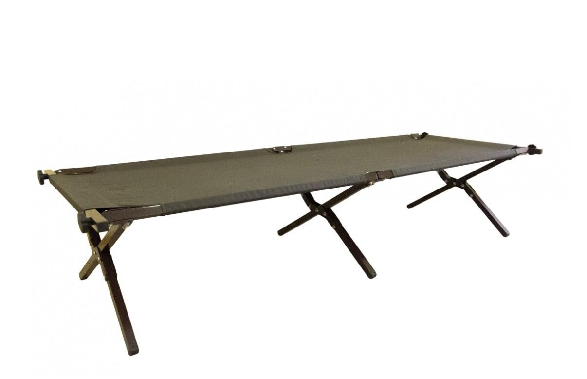 Раскладушка Митек Люкс разборная алюминиевая, 190х64х43 см|Походные спальные мешки| | АлиЭкспресс