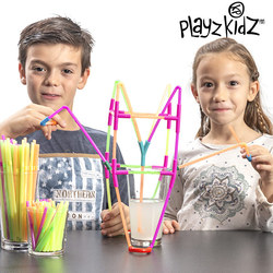 Playz Kidz Drinking Straws Game (194 pieces)