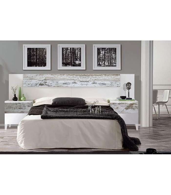 Head For Bed Nordik 135cm Or 150cm With Two Bedside Tables Two Drawers Each.