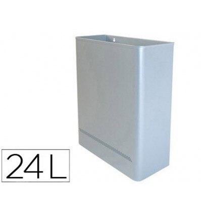 TRASH METAL WALL 24L 460X350X150 MM SILVER