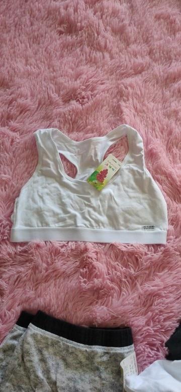 Gift Girl Bra Teen Crop Top Underwear Vest Racerback Puberty Sport Training Bras Letter Streetwear Tube Top New Year 7-14Y 10 9 photo review