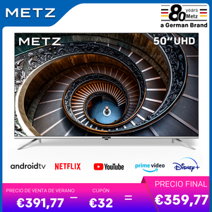 Television 50INCH SMART TV METZ 50MUB7000 ANDROID TV 9.0 UHD Frameless Google Assistant VOICE REMOTE CONTROL 2-Year Warranty