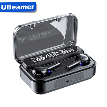 Ubeamer Wireless Headphones Stereo Waterproof Earphones in Ear With Mic Bluetooth Headset Premium Sound Deep Bass For Gym Sport