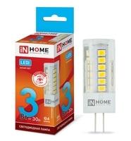 LED lamp LED JC VC 3 W 12 V G4 4000 270Лм IN HOME
