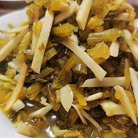 冬笋炒雪里蕻咸菜的做法图解11