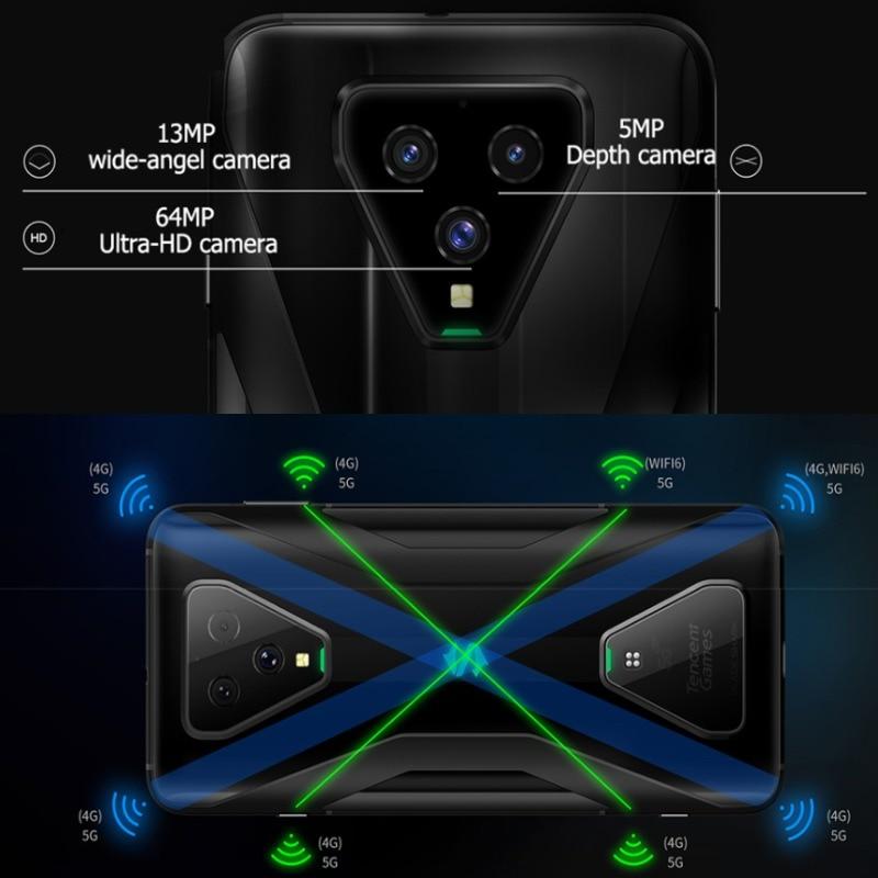 EU Version Xiaomi Black Shark 3 5G 128GB Rom 8GB Ram ,5G Gaming phone [Newly Launch Promo] Smartphone Mobile blackshark3